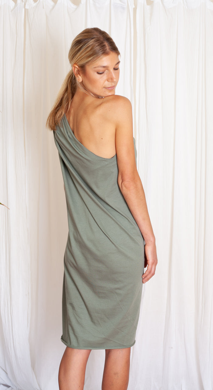 Tia Dress - Sage Organic Cotton