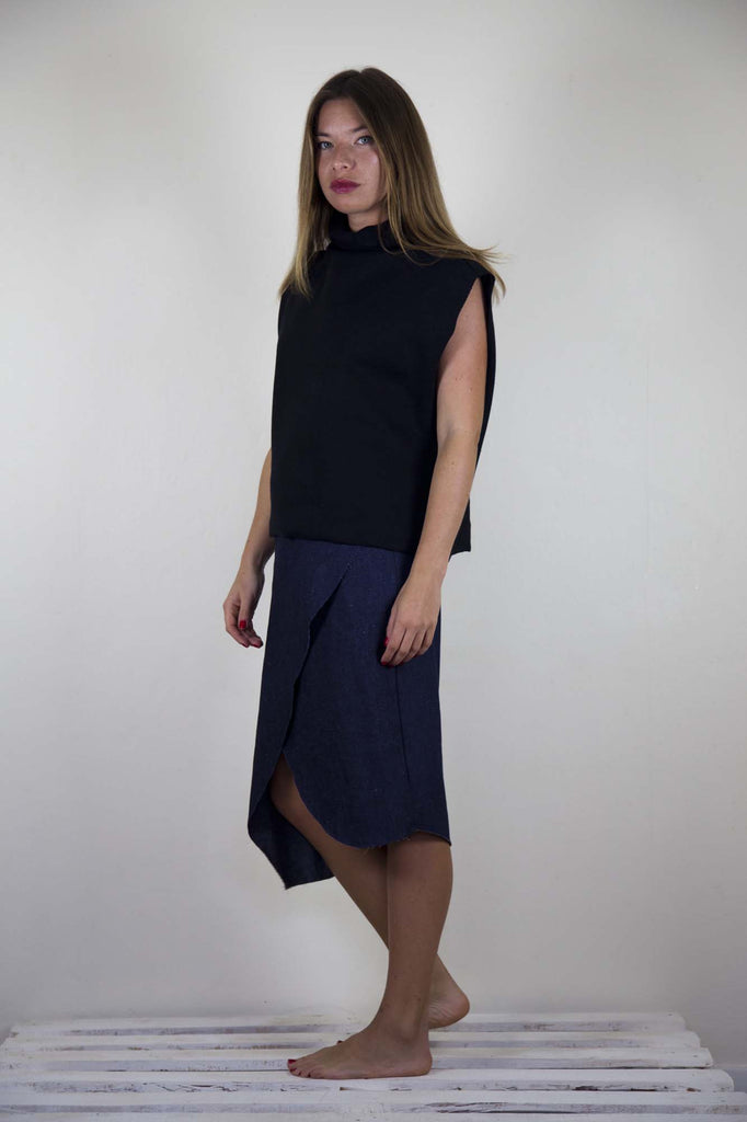 Mia Wrap Skirt - Japanese Denim
