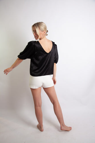 Soph Shorts - White Cotton Rich Ponte