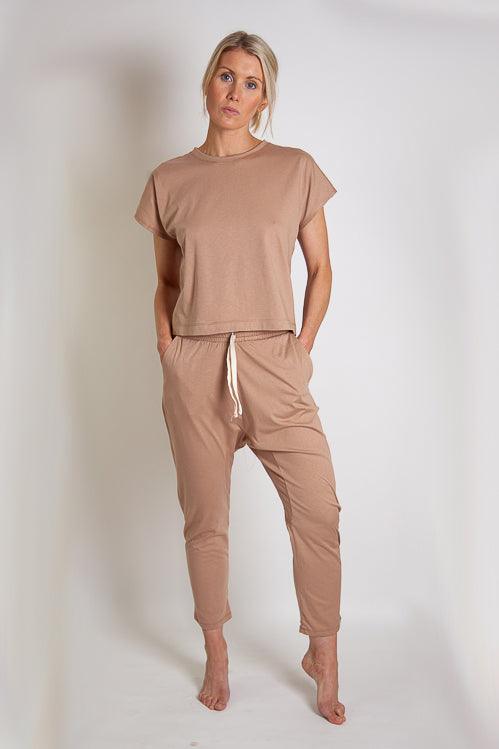 Madley Pant - Clay Organic Cotton Jersey