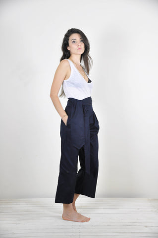 Lore Pant - Navy Herringbone - scout, the label