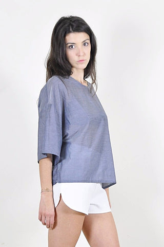 Xen Woven Tee - Grey - scout, the label