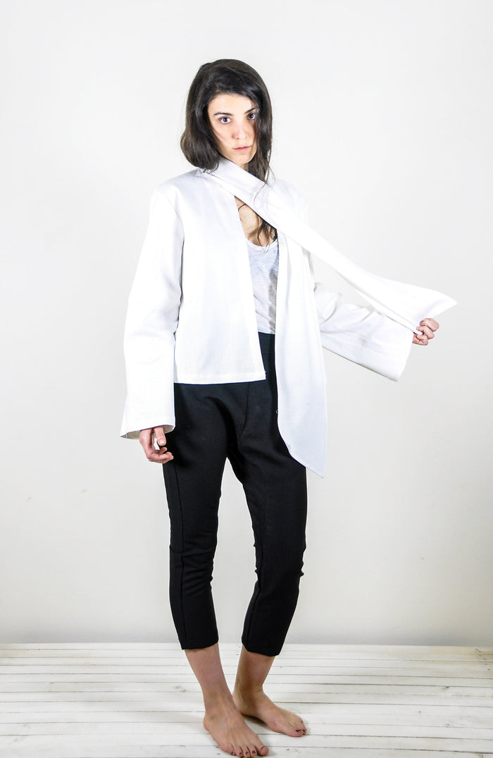 Jude Jacket in White Twill