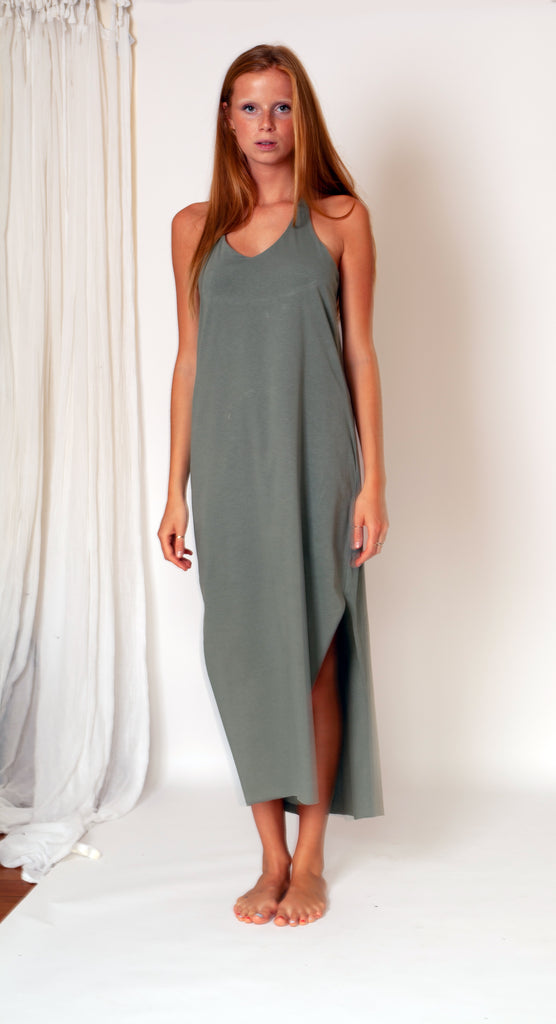 Ohla Dress - Sage Organic Cotton Jersey