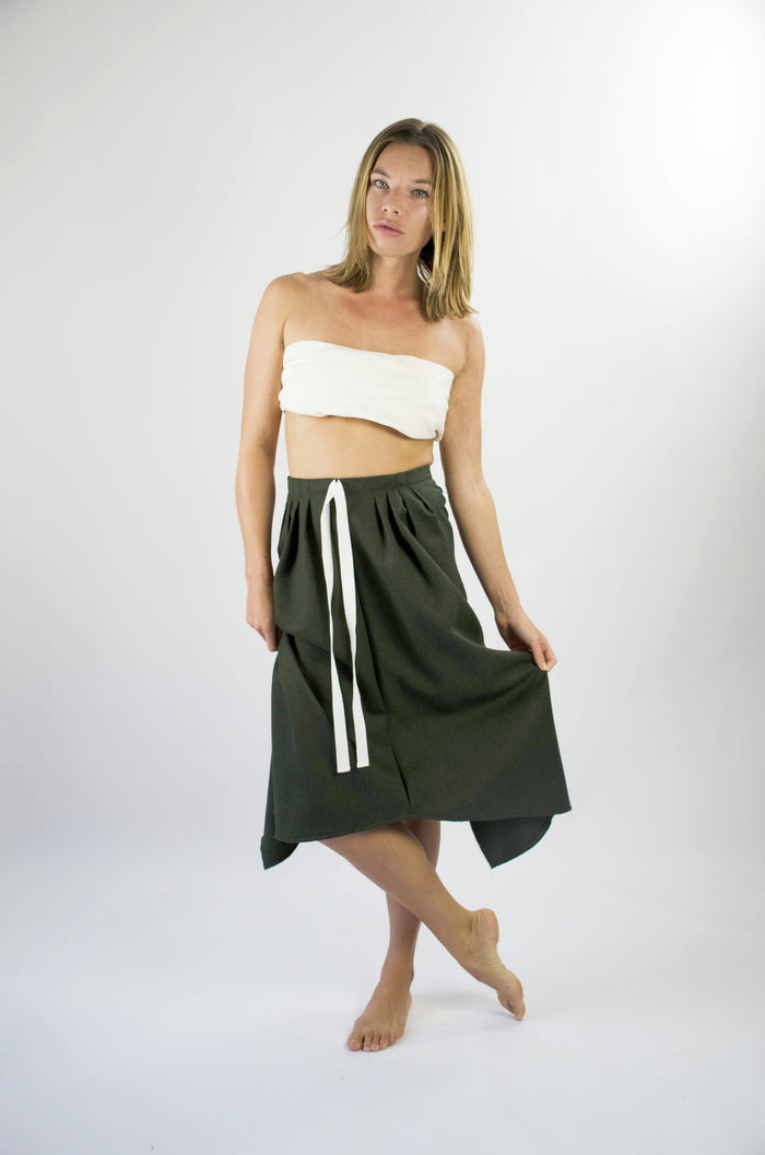 Ignes Skirt - Forest Green Virgin Wool