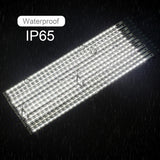 31 Inches LED Snowfall Meteor Shower Lights Double Sided Waterproof Transformer 16ft Wire Extension, Set of 12