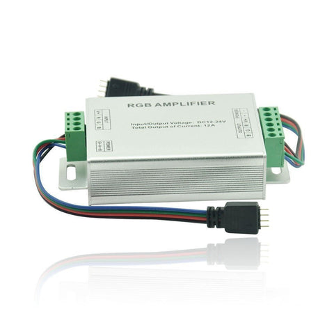 Data Repeater RGB Signal Amplifier For LED Strips SMD3528 5050 12V 12A MAX Output (2 x 4pin connector included)
