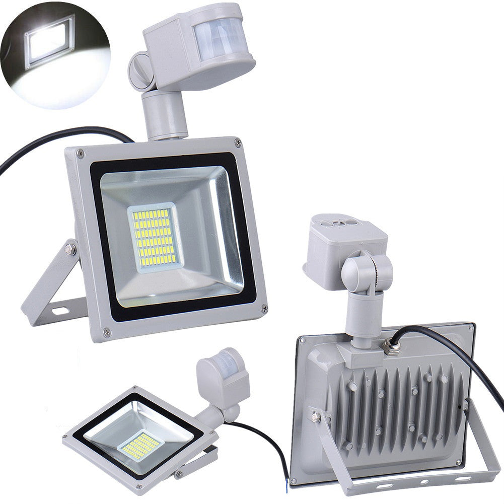 LED Flood Light PIR Motion Sensor Outdoor Spot Lamp Waterproof 110V