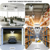 LED Garage Lights 80W Deformable Garage Ceiling Light 8000LM E26 LED Shop light