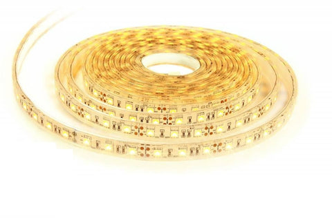 Waterproof SMD2835 Warm White 3000K-3100k LED Strip Lights 16FT Reel 300 LEDs Double PCB Borad