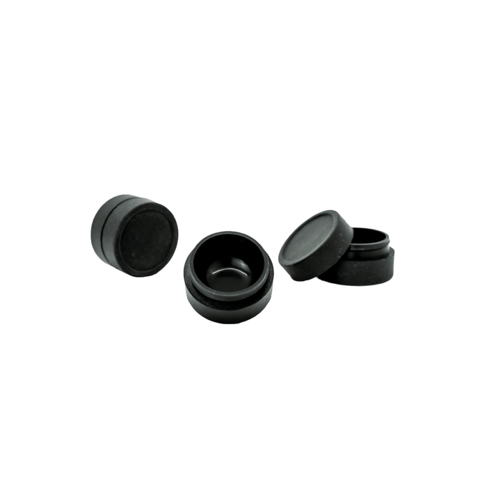 Black Silicone Dab Container - Bee-Nails