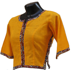 Mustard Side Kalamkari Blouse