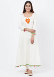Off-White Freedom Anarkali with Off-White Leggings