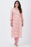 anokherang Combos Pink Jewel Design Kurti with Designer Pants