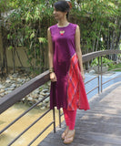 anokherang Combos Purple Zing Kurti with Leggings