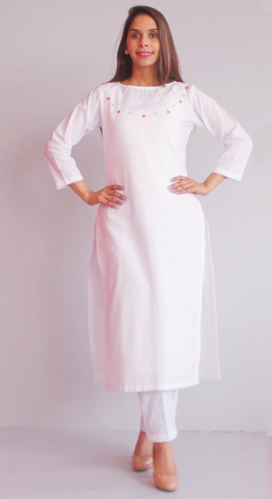 anokherang Combos S Freedom Colors Straight Kurti with Straight Pants