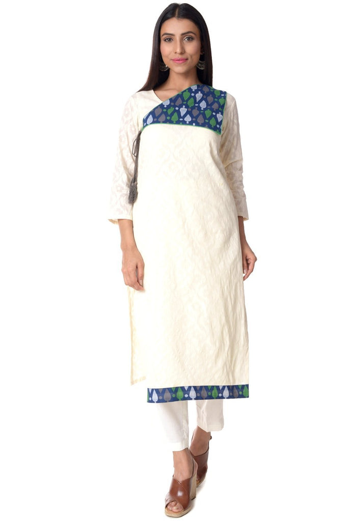 anokherang Combos Self Cotton Spades Kurti with Straight Pants