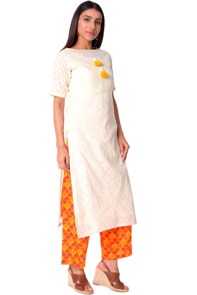 anokherang Combos Self Printed Cotton Kurti with Printed Palazzos
