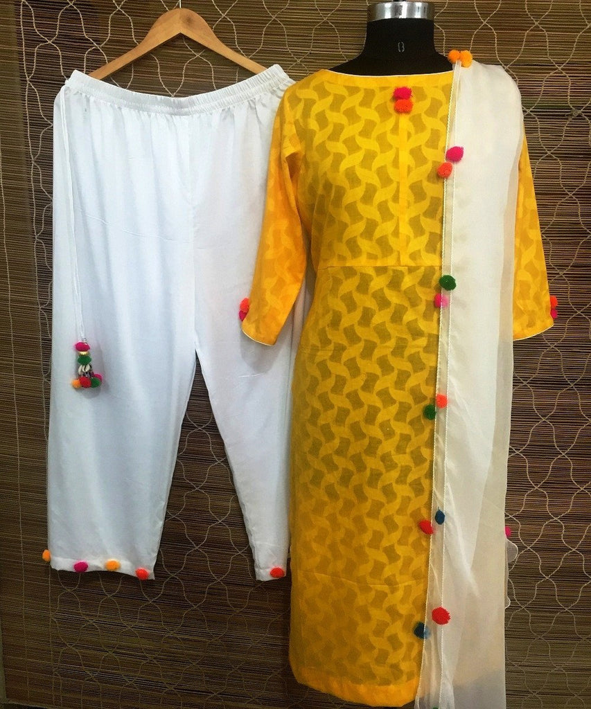 anokherang Combos The Shudh Desi Straight Long Kurti with Straight Palazzo