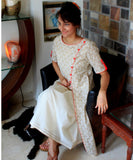 anokherang Combos Woody Red Double layered Kurti with Straight Pants