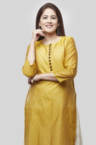Medallion Double Layer Chanderi Kurti