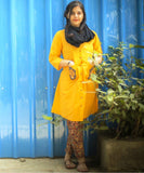 anokherang Combos Yellow Kalamkari Collared Kurti with Straight Pants