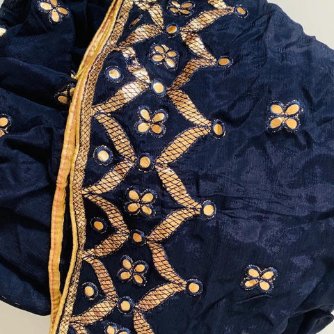 Azure Blue Gotta Patti Embroided Dupatta