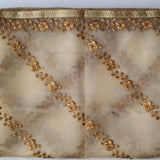 anokherang Dupattas Floral Gold Thread Embroidered Tissue Dupatta
