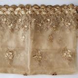 anokherang Dupattas Mughal Gold Floral Embroidered Thread Sequence Dupatta