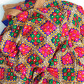 Royal Blue Multi Colored Phulkari Dupatta