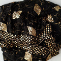 Seher Black Gold Embroidered Dupatta