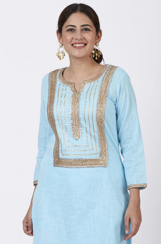 Blush Blue Gotta Straight Kurti