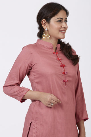 Dusty Rose Straight Kurti