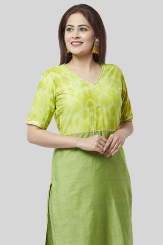 Glorious Green Straight Kurti