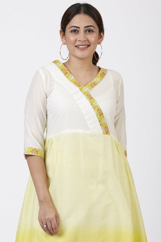 Ombre Yellow Gathered Kurti