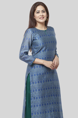 Aquamarine Green Straight Kurti
