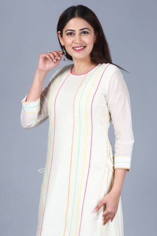 Off-White Freedom Double Layered Kurti