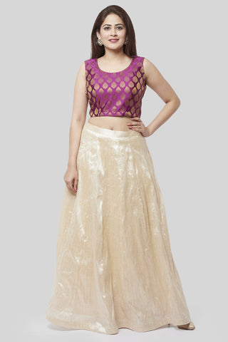 Victorian Purple Lehenga Choli