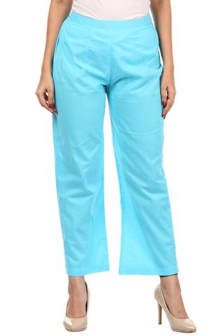 Sky Blue Straight Pants