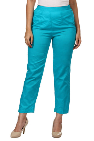 Blue Straight Pants