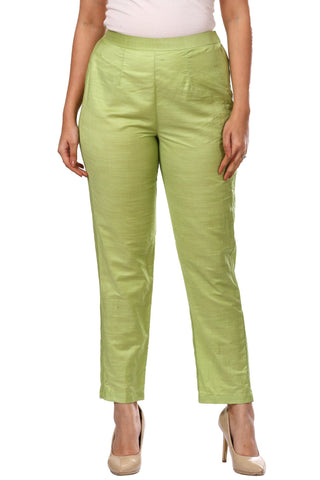 Pista Green Straight Pants