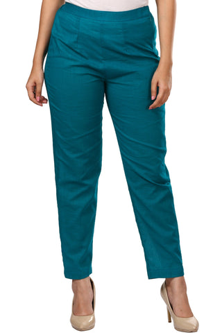 Dark Rama Green Straight Pants