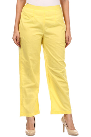 Yellow Straight Pants