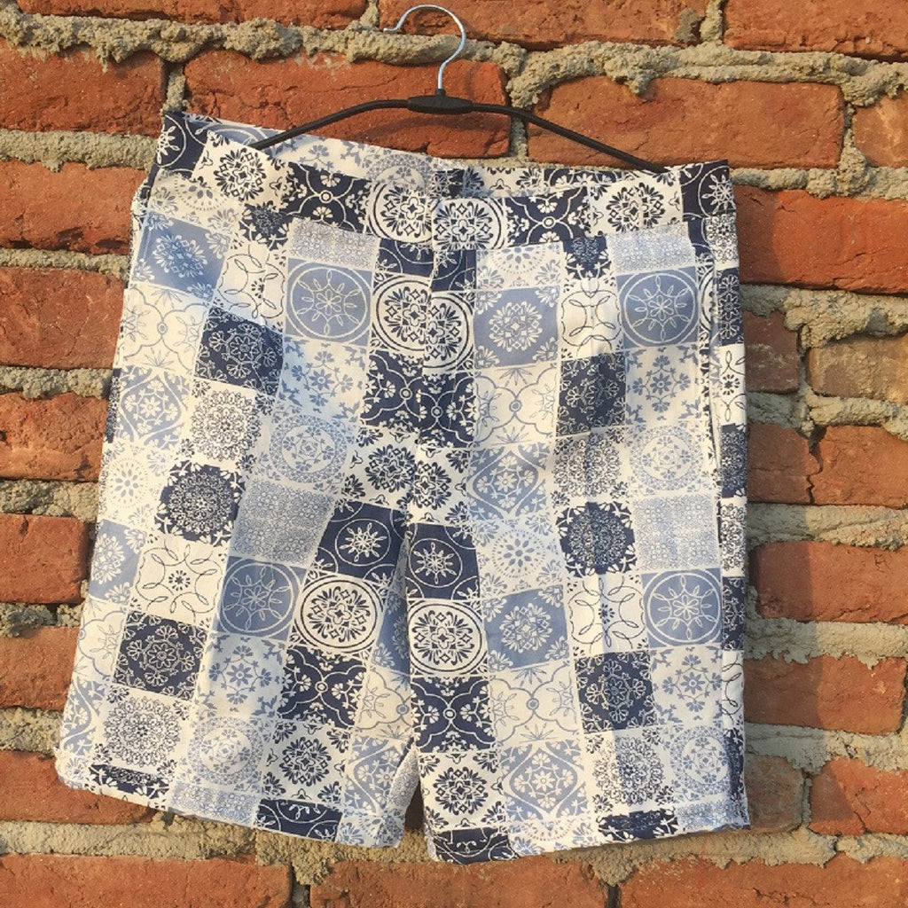 anokherang Shorts Blue Checkered Shorts