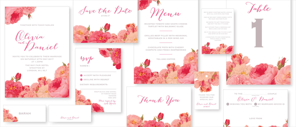 Dimitria Jordan Wedding Stationery Anthi : Blossom