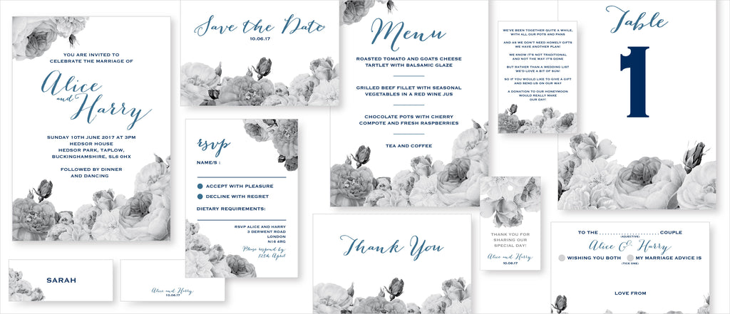 Dimitria Jordan Wedding Stationery Anthi : Marble