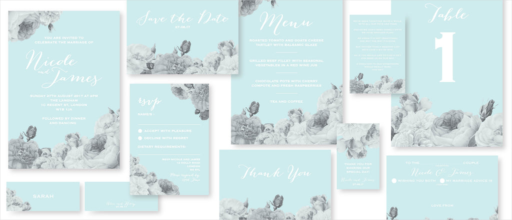 Dimitria Jordan Wedding Stationery Anthi : Serene