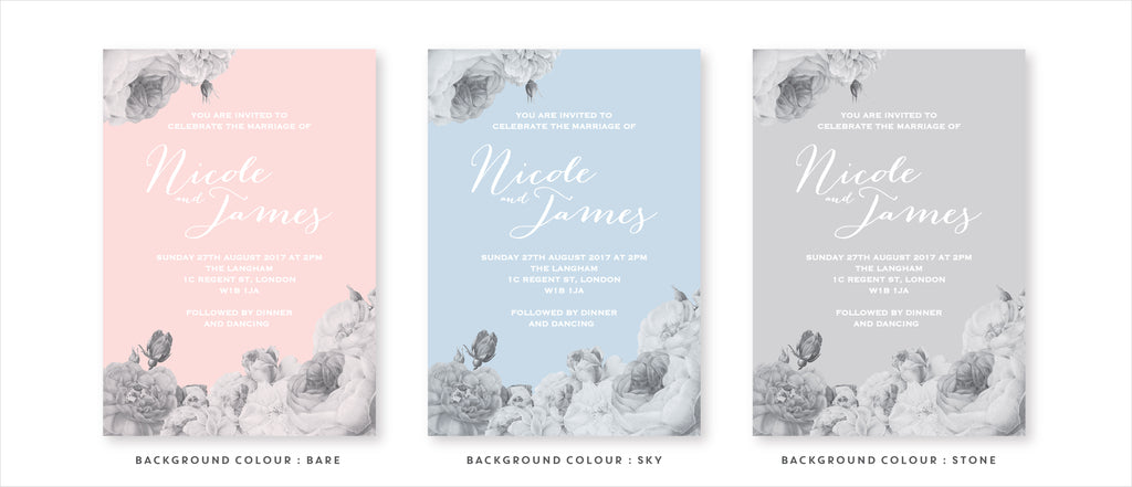 Anthi : Serene Wedding Stationery variations