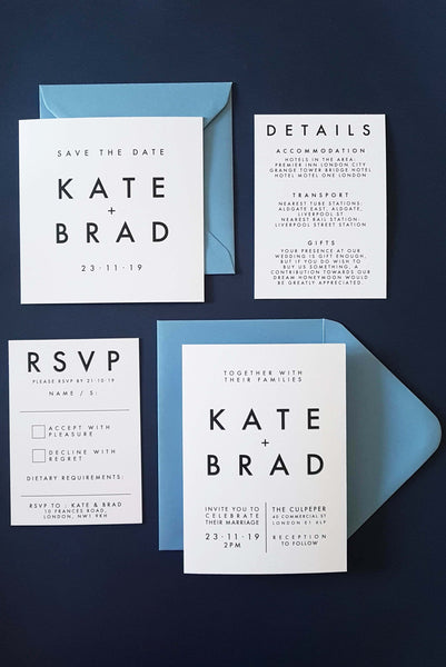 Apollo modern wedding stationery