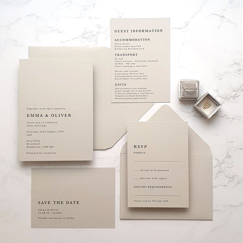 Athena wedding stationery collection